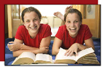 twins studying together